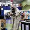 A Tusken raider from the 501st Legion prowls around the Enid Public Library during Out of this World Fandom Night Friday, July 12, 2019. (Billy Hefton / Enid News & Eagle)