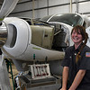 Tyla Oborny, aircraft assembly tech at Aircraft Structures, Inc., Thursday, July 9, 2020. (Billy Hefton / Enid News & Eagle)