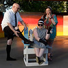 """Cast members (left to right) Chris McDaniel, Madison Wilson and Tammy Wilson of Gaslight Theatre's Shakespeare in the Park production of """"Twelfth Night"""" Wednesday, July 8, 2020 at Government Springs Park. (Billy Hefton / Enid News & Eagle)"""