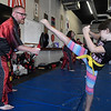 Dustin Musick works a students at Humanitarian School of Martial Arts Monday, July 19, 2021. (Billy Hefton / Enid News & Eagle)