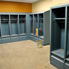 One of four locker rooms inside the Enid Event Center. A ribbon cutting is scheduled for Wednesday. (Staff Photo by BILLY HEFTON)