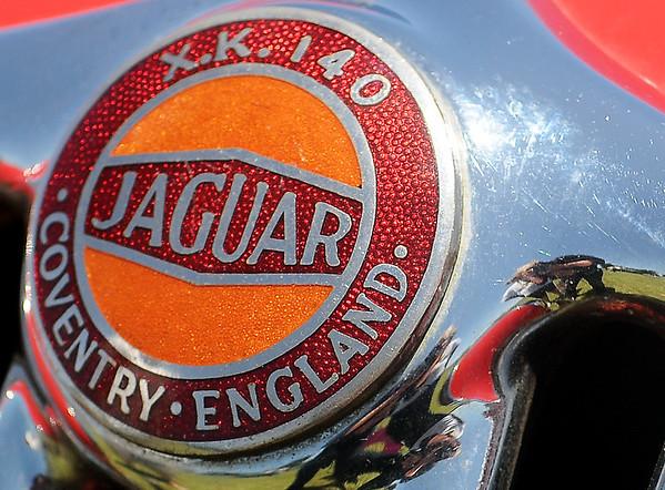 Jaguar X.K. 140 (Staff Photo by BONNIE VCULEK)