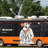 The Oklahoma Medical School RV sits near an entrance to Northwestern Oklahoma State University during Operation Orange, a one-day medical summer camp for high school students, Tuesday, June 11, 2013. (Staff Photo by BONNIE VCULEK)