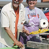 Frank Baker and Carmen Ball for Enid Paws for the Cause Dachshund Dash (Staff Photo by BONNIE VCULEK)