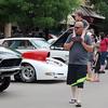 Travis Patton provides a special view for his son, Kaden, during the Van Buren Cruisin Car Show Saturday, June 15, 2013. (Staff Photo by BONNIE VCULEK)