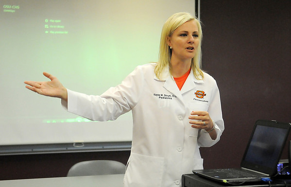 Dr. Kayse M. Shrum, D.O. Pediatrics, Oklahoma State University School of Medicine (Staff Photo by BONNIE VCULEK)