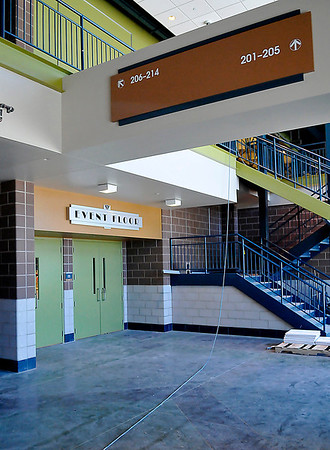 South lobby of the Enid Event Center. A ribbon cutting is scheduled for Wednesday. (Staff Photo by BILLY HEFTON)