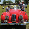 Members of the Cimarron Chapter of the Boy Scouts of America check out a 1955 Jaguar X.K.140 during their car show at the Garfield County Fair Grounds Saturday, June 1, 2013. (Staff Photo by BONNIE VCULEK)