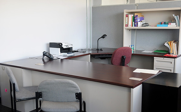 Habitat for Humanity office on the Mezzanine Level of the Non-profit Center (Staff Photo by BONNIE VCULEK)
