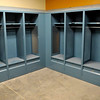 One of four locker rooms at the new Enid Event Center. (Staff Photo by BILLY HEFTON)