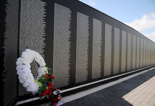 In Memory Celebration at the Vietnam Memorial Wall on Flag Day Saturday, June 14, 2014 (Staff Photo by BONNIE VCULEK)
