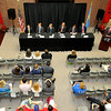 U.S. Senate candidates during a GOP debate Friday at NWOSU Enid. (Staff Photo by BILLY HEFTON)