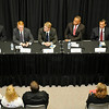 U.S. Senate candidates during a GOP debate Friday at NWOSU Enid. (Staff Photo by BILLY HEFTON)