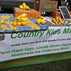 Country Kids Market, owned and operated by Summer Finney from Helena, features a bumper crop of yellow squash during GreEnid festivities at Enid Farmers Market Saturday, June 21, 2014. (Staff Photo by BONNIE VCULEK)