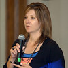Kyna Swanson, with the American Cancer Society, addresses the Noon Rotary Club Monday. (Staff Photo by BILLY HEFTON)
