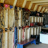Enter His Gates organized tack room (Staff Photo by BONNIE VCULEK)
