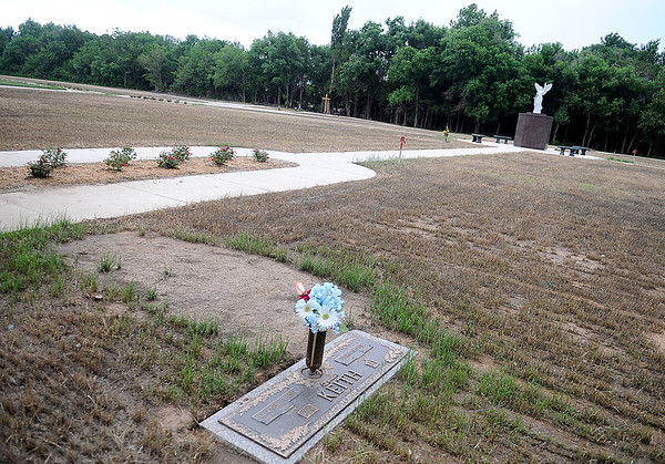 Recent improvements at Memorial Park Cemetery includes The Garden of Hope, which added about 3,000 spaces and a two columbariums for cremations as part of the $1 million cemetery upgrade. (Staff Photo by BONNIE VCULEK)