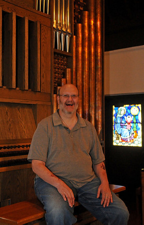 Andrew Allen pauses inside St. Matthew's Episcopal Church Tuesday, June 10, 2014. A Progressive Organ Walk from First Presbyterian Church, St. Francis Xavier Catholic Church, St. Matthews Episcopal Church and First Methodist Church will be June 22 at 3:00 p.m. in honor of Andrew Allen, from Enid, who needs a liver transplant. (Staff Photo by BONNIE VCULEK)
