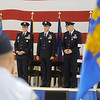 General Robin Rand, Col. Clark J. Quinn and Col. Darren V. James (from left) appear together during the 71st Flying Training Wing Change of Command Wednesday, June 18, 2014 at Vance Air Force Base. Col. Quinn assumes command after Col. James 24-month command at the base. (Staff Photo by BONNIE VCULEK)