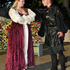 """Jake Taylor and Tori Plunckett rehearse a scene from the Gaslight Teens production of William Shakespeare's """"The Taming of the Shrew"""" Tuesday June 21, 2016 at Government Springs Park. (Billy Hefton / Enid News & Eagle)"""