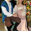 """Jonathan Wallace and Kalina Collins rehearse a scene from the Gaslight Teens production of William Shakespeare's """"The Taming of the Shrew"""" Tuesday June 21, 2016 at Government Springs Park. (Billy Hefton / Enid News & Eagle)"""