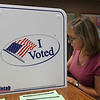 Virginia Tines takes advantage of early voting at the Garfield County Election Board Friday June 22, 2018. Early voting will continue today from 9 a.m. to 2 p.m. (Billy Hefton / Enid News & Eagle)