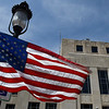 One of the American flags lining the streets of downtown Enid Friday, June 14, 2019 in honor of Flag Day. (Billy Hefton / Enid News & Eagle)