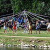 Enid High School junior and sophomore girls wrap a May Pole at Government Spring Park during the 105th May Fete Sunday, June 14, 2020. (Billy Hefton / Enid News & Eagle)