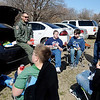 Lt. Col. Andy Hamann and Brent Price visit with Emerson Middle School students during the Boys Tailgate at Northern Oklahoma College-Enid Wednesday, March 13, 2013. Hope Outreach Parenting Ministry sponsors the abstinence event for over 400 middle school age boys each year. (Staff Photo by BONNIE VCULEK)