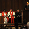 (from left) Deacon Tony Crispo, Rev. Rajesh Mankena, Rev. Joseph Irwin, Rev. Andrew Long and Rev. Susan Southall (Staff Photo by BONNIE VCULEK)