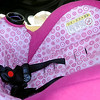 Parents should always follow car seat safety guidelines and warnings when they transport their children. (Staff Photo by BONNIE VCULEK)