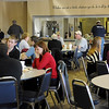 Members and guests enjoy a meal at Oakwood Christian Church Wednesday, March 13, 2013. Meals are served for a nominal fee each Wednesday night before services begin. (Staff Photo by BONNIE VCULEK)