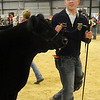 Ryan Coontz, from Waukomis, showed the Northwest District Junior Livestock Show reserve grand champion steer at the Chisholm Trail Expo Center Friday, March 8, 2013. (Staff Photo by BONNIE VCULEK)