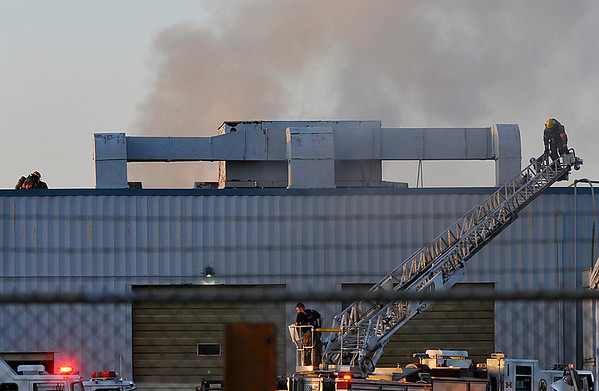Enid Fire Department responded to a rekindled fire at GEFCO, Inc. Wednesday evening. (Staff Photo by BILLY HEFTON)
