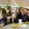 Zachary and Heidi Ritchie enjoy a meal at Oakwood Christian Church Wednesday, March 13, 2013. As part of the church's ministry, congregation members may eat for a nominal fee before every Wednesday night activity or class. (Staff Photo by BONNIE VCULEK)