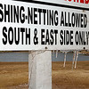 Icicles hang from fishing sign Sunday on the Northern Hills Golf Course.(Staff Photo by BILLY HEFTON)