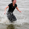 Michelle Bosch was one of six who took the plunge into the Crosslin Park Lake icy waters during the Warren Edds Memorial Civitan Chiller Challenge Saturday, March 9, 2013. (Staff Photo by BONNIE VCULEK)