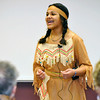 Hennessey Chism performs as Sacagawea in front of the judges Thursday during the student Chatuaqua competition at NWOSU. (Staff Photo by BILLY HEFTON)