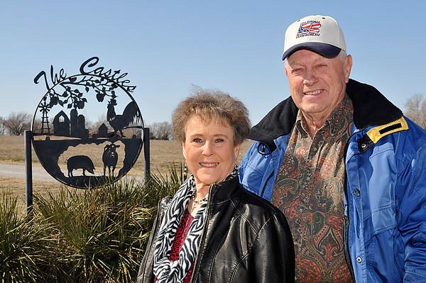 Richard and Cecelia Castle have been named the Oklahoma Farm Bureau Farm Family of the Year. (Staff Photo by BILLY HEFTON)