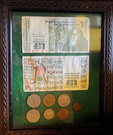 Currency, no longer used in Ireland, has special memories for Ursula Tuohy. (Staff Photo by BONNIE VCULEK)