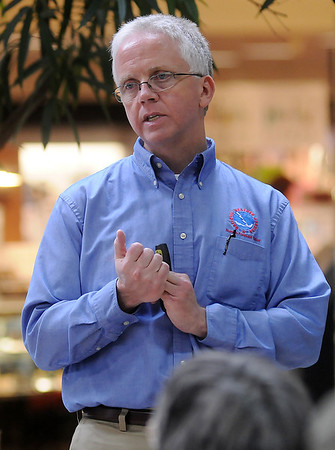 Rick Smith, with the National Weather Service in Norman. (Staff Photo by BONNIE VCULEK)