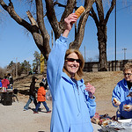 Glenda Abbi offers another hot dog to a middle school student during the Boys Tailgate at Northern Oklahoma College-Enid Wednesday, March 13, 2013. More than 400 boys from Garfield County sc ...