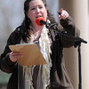 Tammy Wilson, Moustache March event organizer (Staff Photo by BONNIE VCULEK)