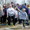 Toby Spoonemore tosses a turbo jet during the Special Olympics Outdoor Track and Field events at Vance Air Force Base Thursday, March 28, 2013. (Staff Photo by BONNIE VCULEK)