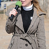 Linda Mardis, financial administrator for Hope Outreach, makes an announcement at the Boys Tailgate at Northern Oklahoma College-Enid Wednesday, March 13, 2013. Hope Outreach Parenting Ministry sponsors the abstinence event for middle school students from Garfield County schools each year. (Staff Photo by BONNIE VCULEK)