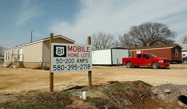 Mobile home lots fro rent in Medford. Staff Photo by BILLY HEFTON)