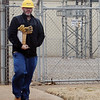 An O.G.&E. specialist finishes his evaluation at an Enid power sub-station near Owen K. Garriott after approximately 3,000 homes lost their electricity Saturday, March 1, 2014. (Staff Photo by BONNIE VCULEK)