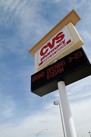 The CVS Pharmacy at the corner of Van Buren and Garriott will have it's grand opening March 23 at 8:00 a.m. (Staff Photo by BILLY HEFTON)