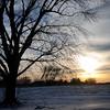 Sunlight glistens on a wintry landscape near Waukomis Monday, March 3, 2014. (Staff Photo by BONNIE VCULEK)