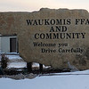 The Waukomis FFA installed a giant granite stone, shaped like the state of Oklahoma, to welcome guests to the community. (Staff Photo by BONNIE VCULEK)